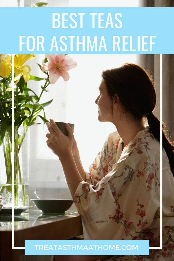 best teas for asthma pinterest graphic