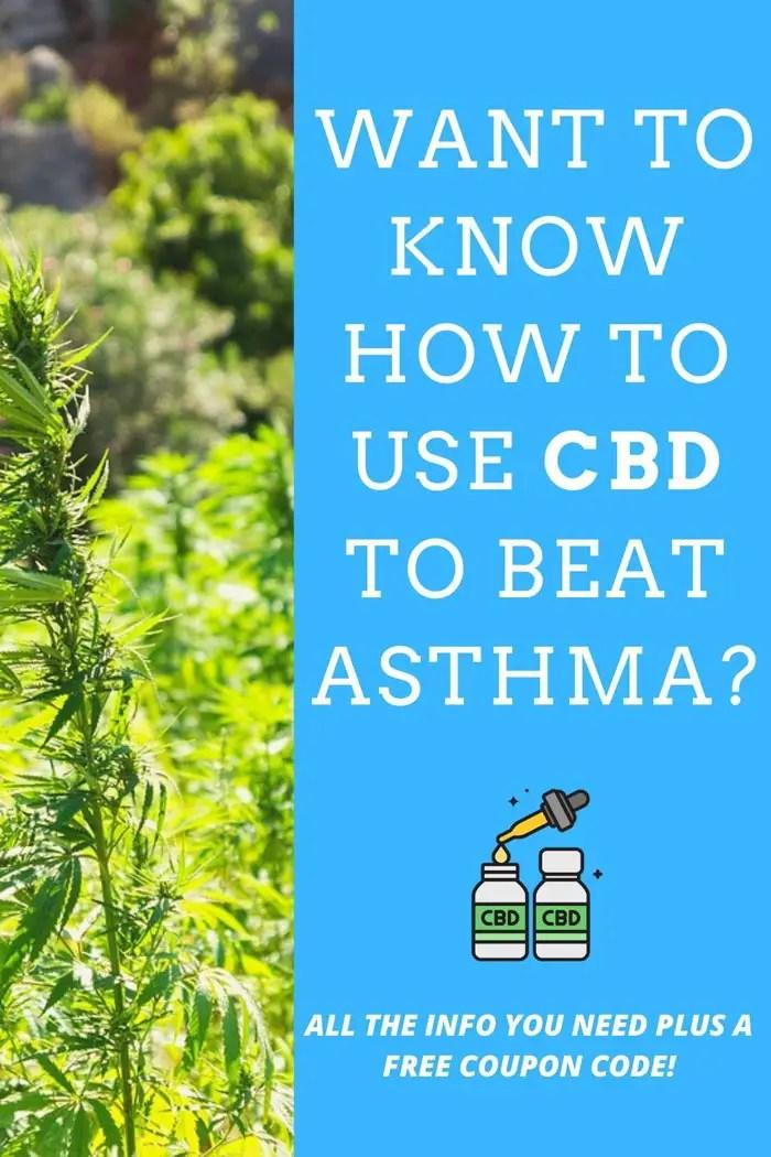 cbd for asthma pinterest graphic