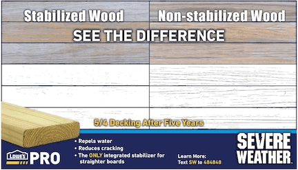 Severe Weather Treated Lumber Has An Integrated Stabilizer That   Lowes Pressure Treated Stair Treads   Treated Pine Stair   Deck Stairs   Hyphen   Treated Lumber   Railing