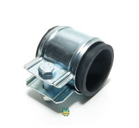 exhaust pipe clamp - 28mm - with rubber mount