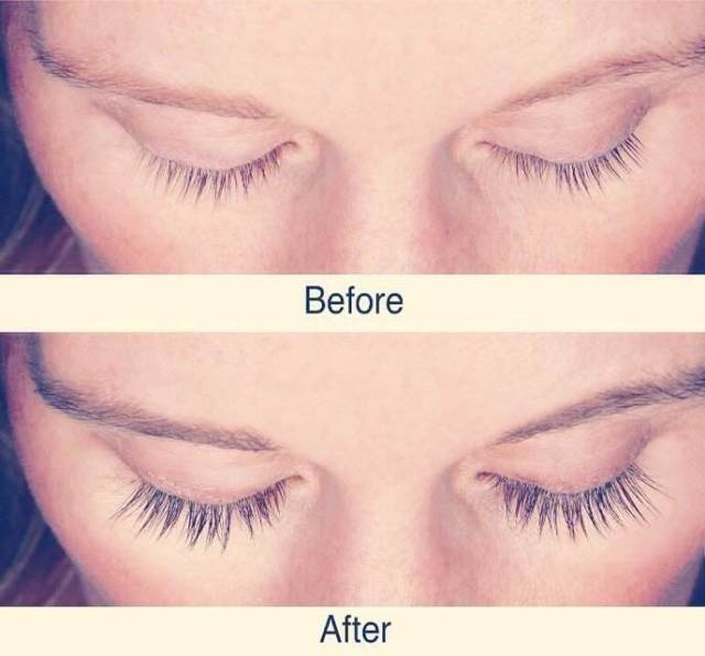 vaseline eyelashes before and after