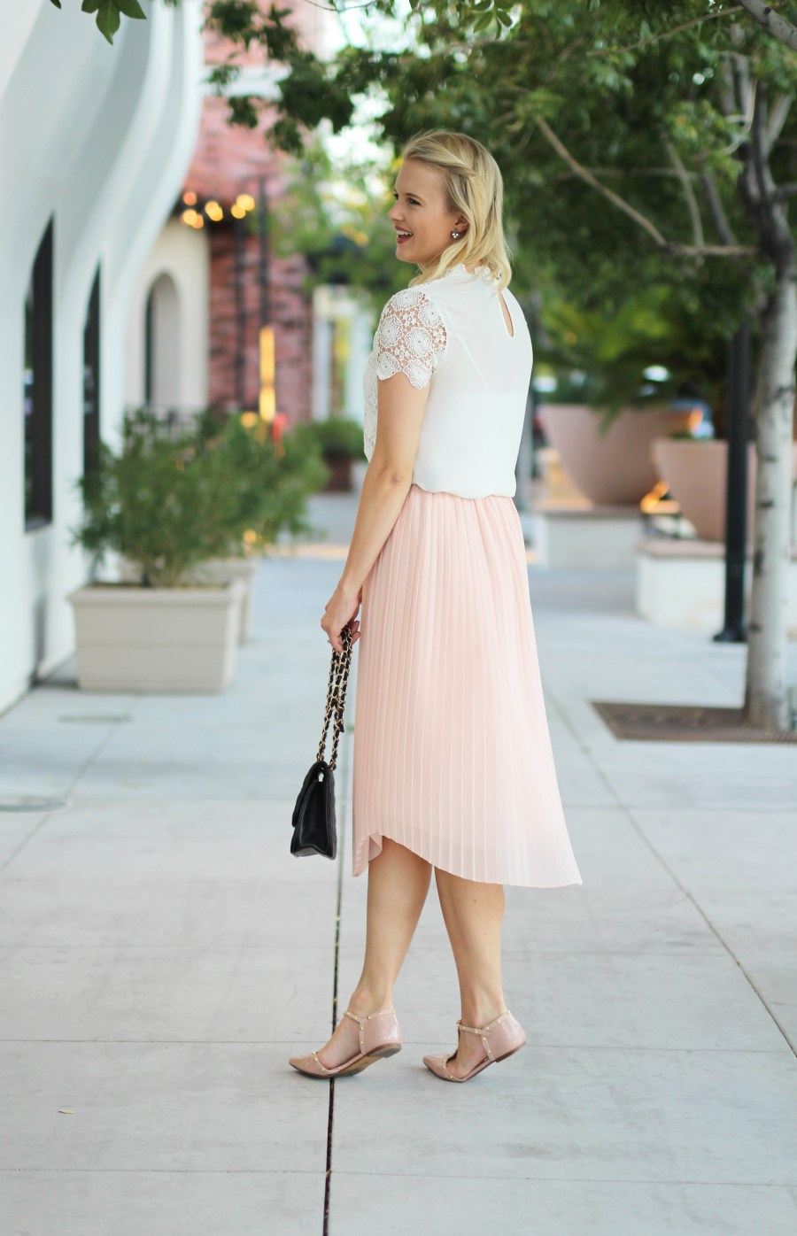 Pink Pleated Skirt
