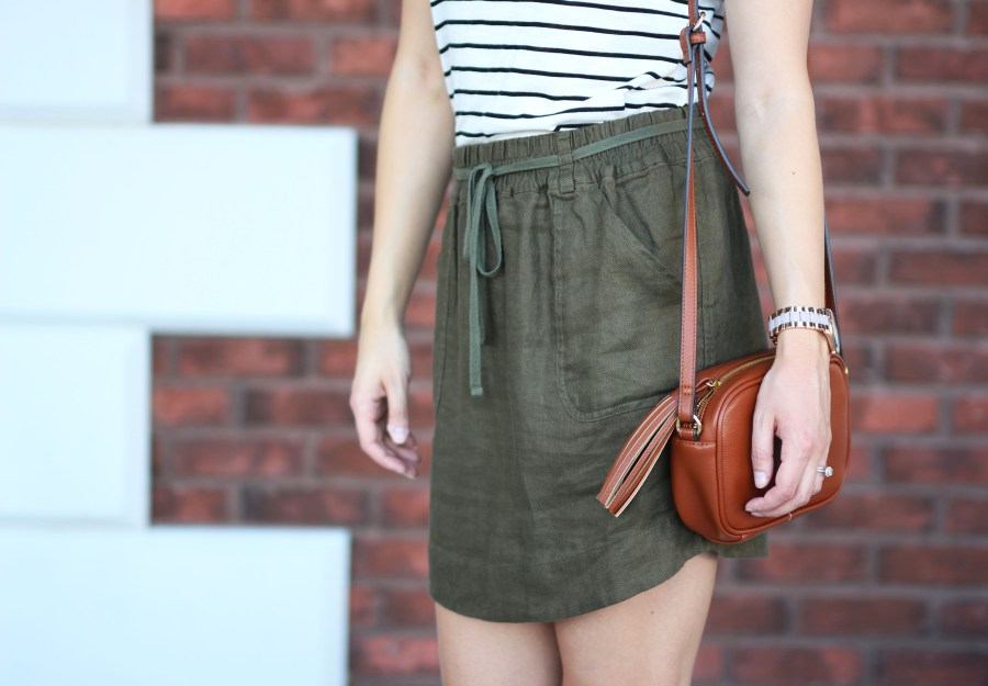 army-green-skirt