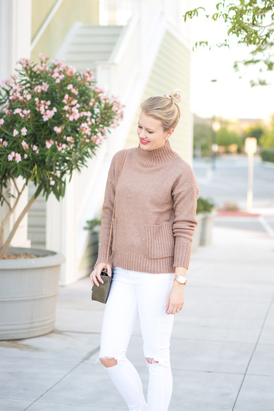 mock neck sweater, winter fashion, women's fashion, fashion blog, Treats and Trends, Jamie Kamber, Sweater, Nordstrom