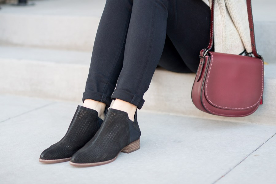 Designer Handbags Under $500 That Are Worth The Investment, Coach saddlebag, fashion blog, Treats and Trends, fall outfit, winter outfit, black booties