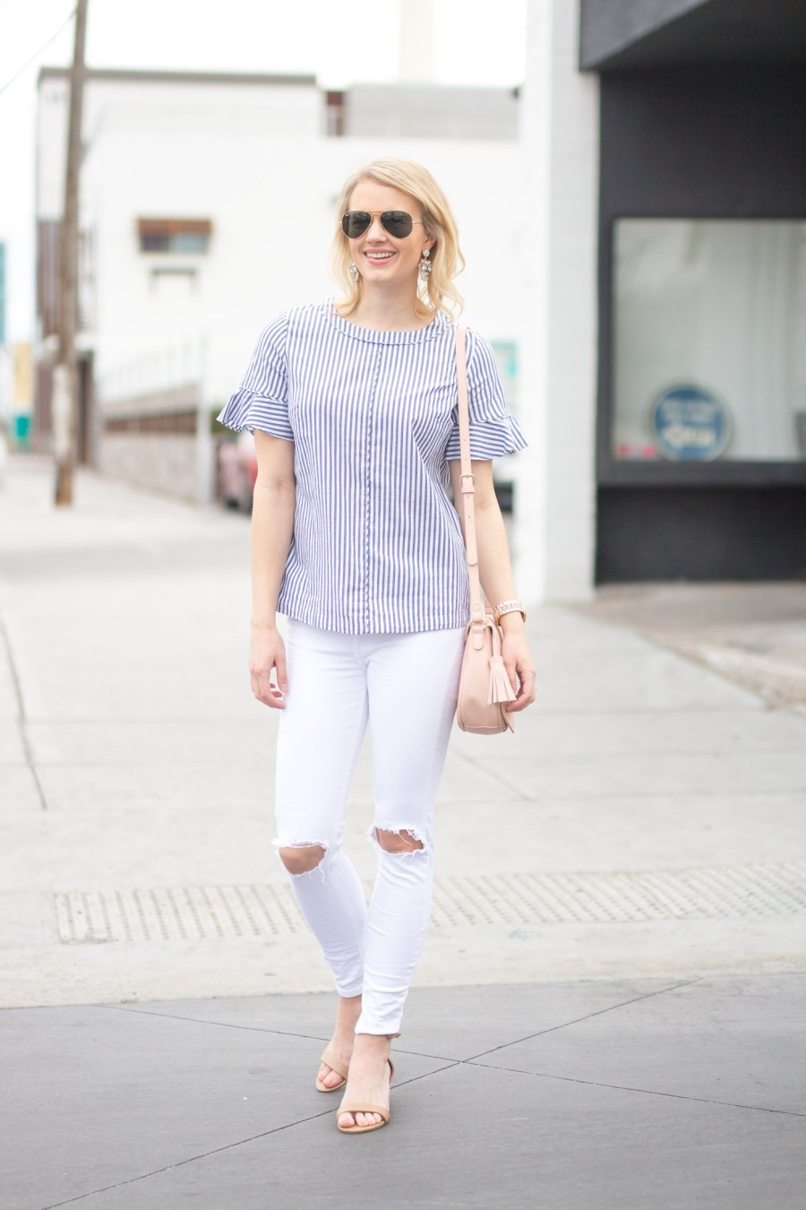 The Perfect Low Heels for Everyday Wear, Steve Madden Irenee sandal, fashion blog, spring outfit, Treats and Trends, Jamie Kamber