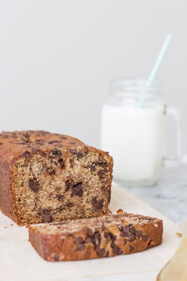 Classic chocolate chip banana bread treats and trends chocolate chip banana bread recipe baking blog food blog treats and trends forumfinder Choice Image