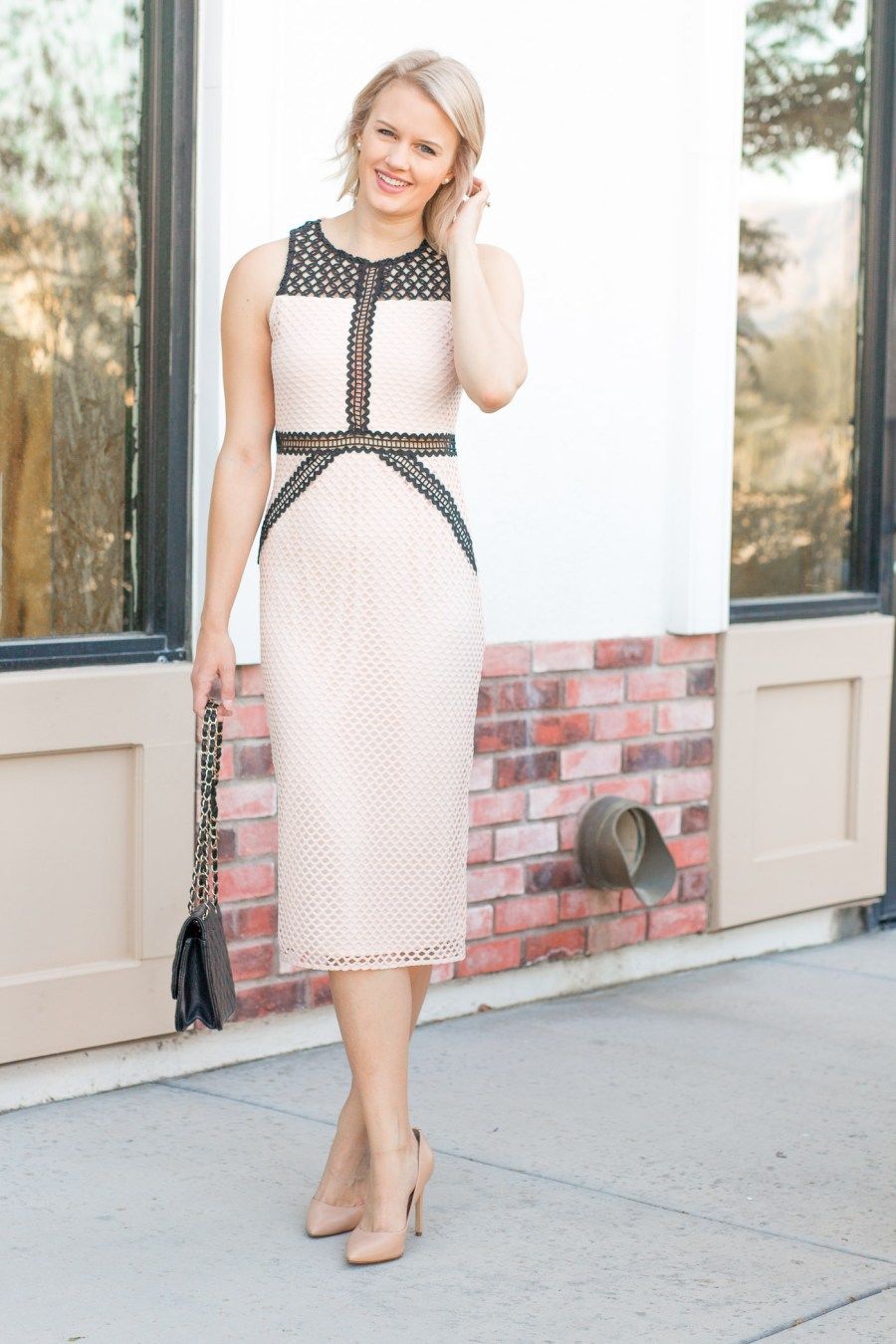 The Perfect Wedding Guest Dress, Topshop lace dress, midi dress, Treats and Trends, fashion blog