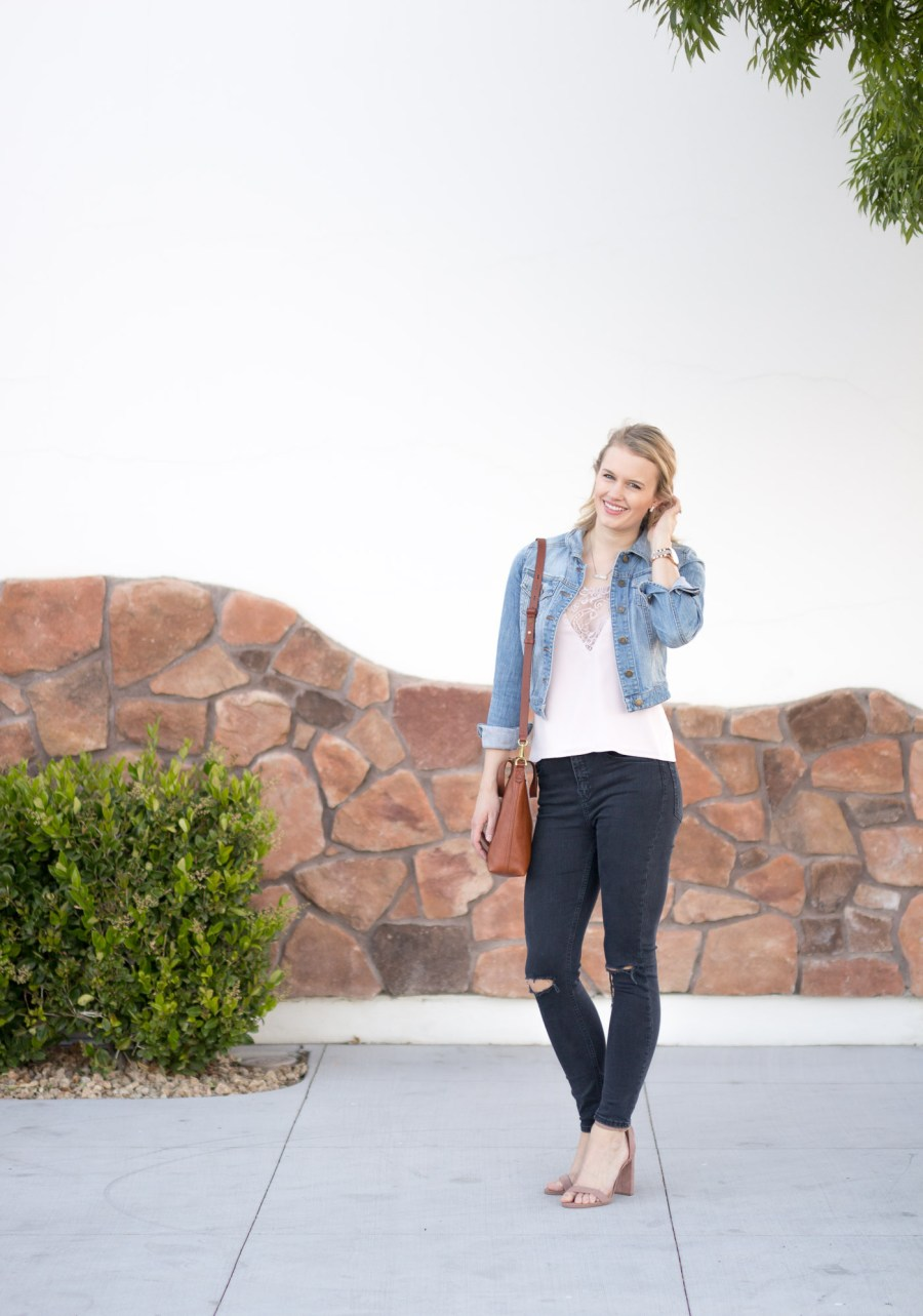 How To Dress Up a Denim Jacket for Date Night, Tobi.com, spring outfit idea, fashion blog, Treats and Trends