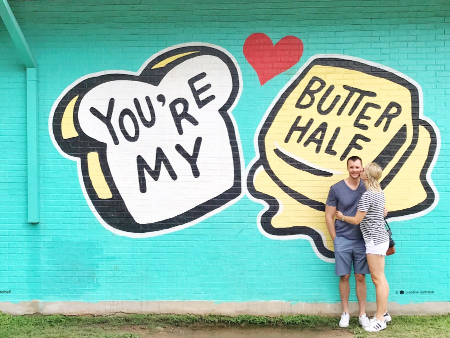 Austin, Texas Travel Guide, travel blogger, you're my butter half mural