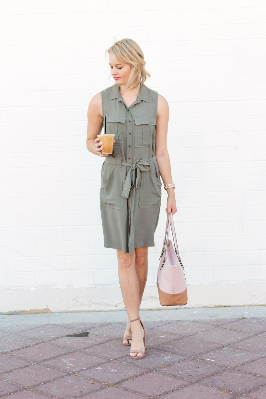 The Perfect Shirtdress To Wear To Work This Spring, H&M dress, fashion blog, Treats and Trends
