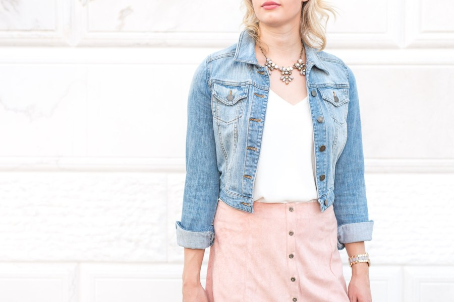 Tips For Creating a Cohesive Instagram Feed, pink suede skirt