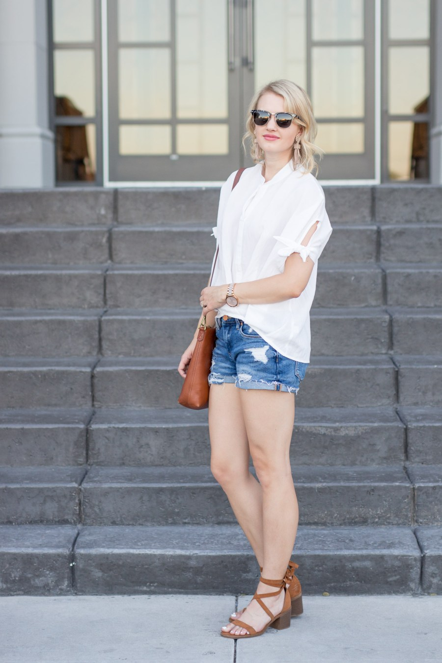 15 White Tops That Are Perfect For Summer & Under $50, SheIn white blouse, spring outfit idea, fashion blog, Treats and Trends