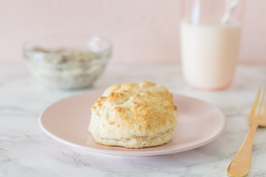biscuits with green chile sausage gravy