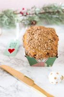 Cinnamon streusel quick bread for holiday gifts