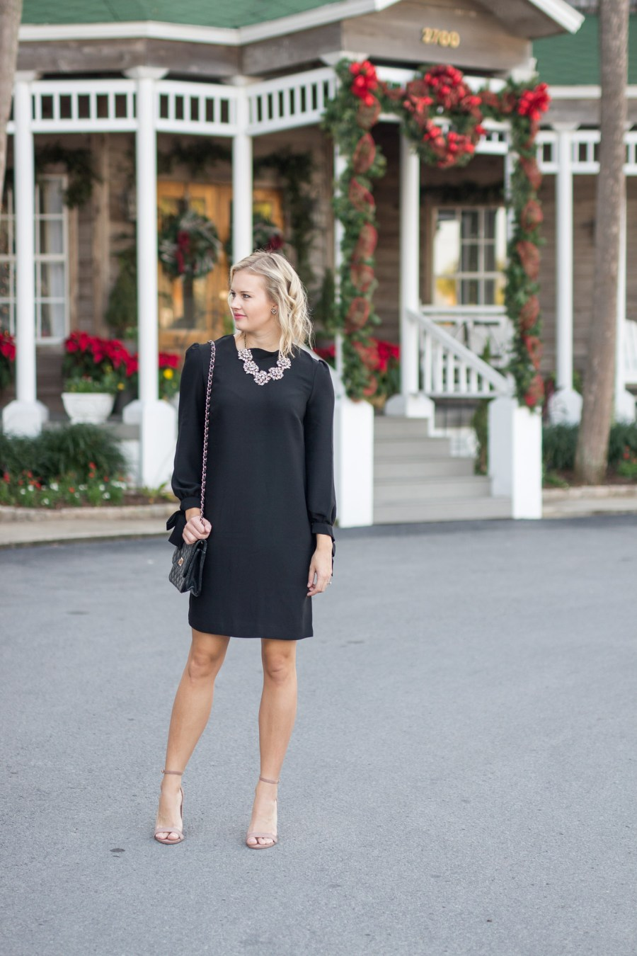 Banana Republic little black dress for holiday parties
