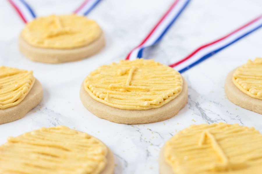 Olympic Gold Medal Sugar Cookies