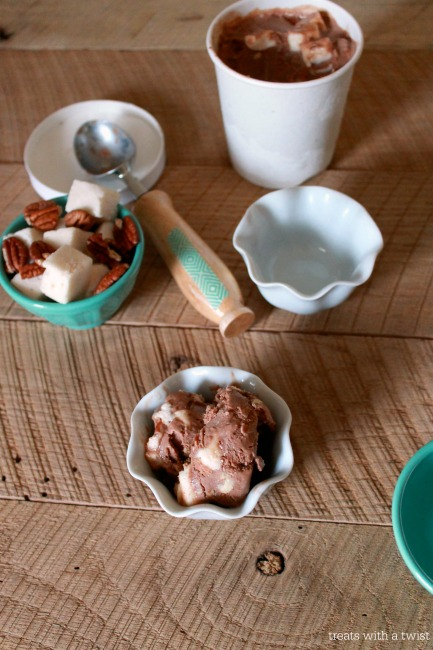 Rocky Road Coconut Milk Ice Cream // treatswithatwist.com