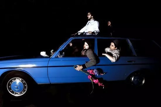 Spokes in a Car - leaving Preston
