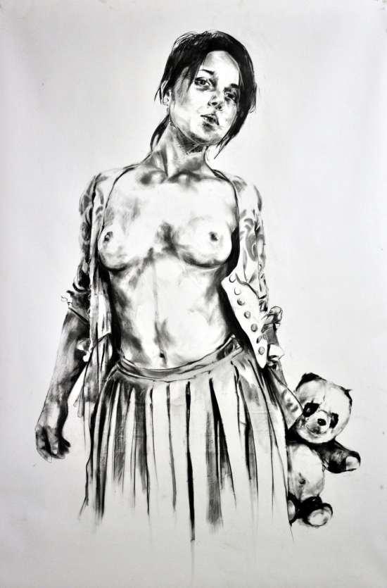 Frank Rannou 'Sarah' Pencil on Paper