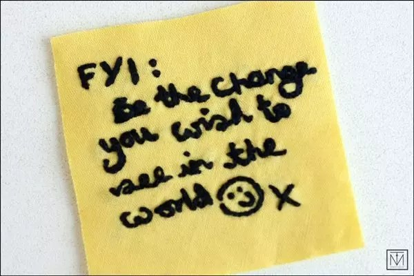 Craftivist post-it note 2