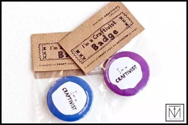 Craftivist badges