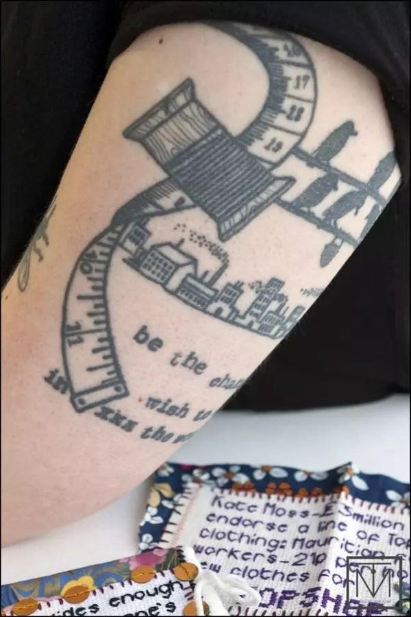 Craftivist Sarah arm