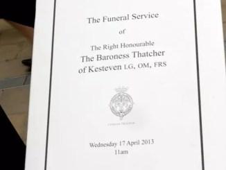 Thatcher's funeral invite by Carl Byron Batson