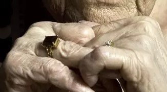 A picture of an old woman's hands by Carl Byron Batson