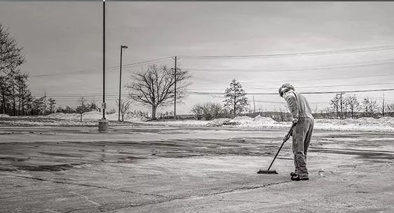 A picture of someone sweeping by Ryan McGuire