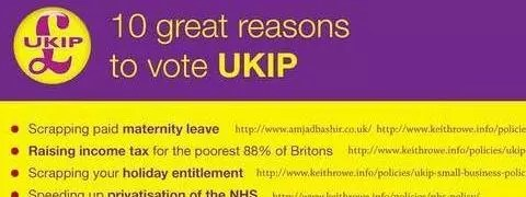 Spoof UKIP election leaflet
