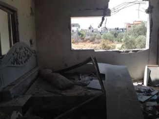 shattered bedroom in Beit Hanoun, Gaza, by Kerry Anne Mendoza