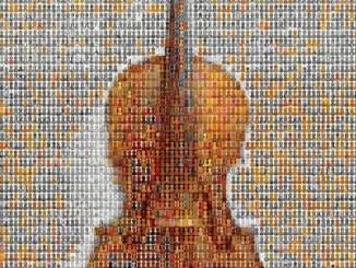 violin mosaic by Dan Chitwood