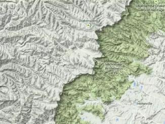 drakensberg, google maps