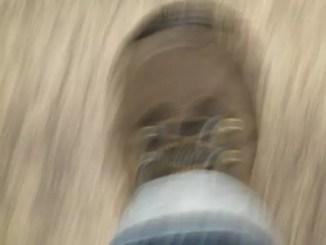 blurred foot