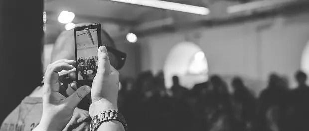 Smartphone, filming