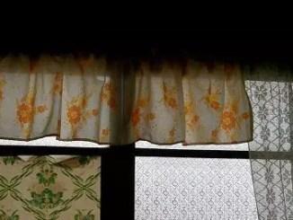Window, curtains