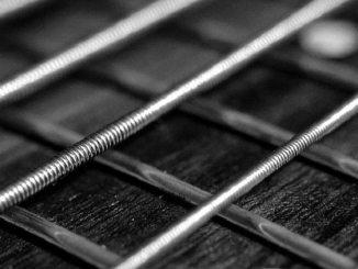 Guitar strings, railway lines