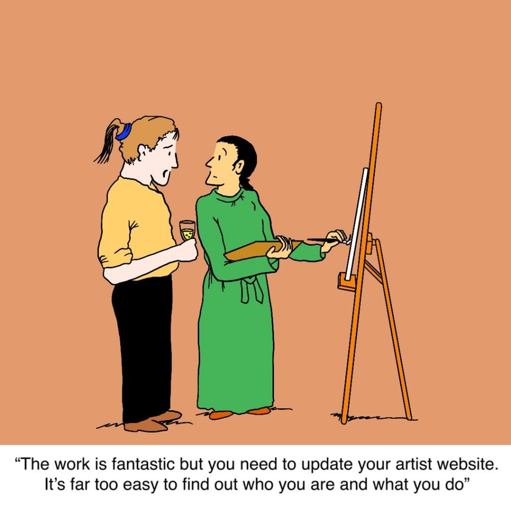 Artist Website: Satirical Saturday Cartoon on Art by Alex Brenchley 2019