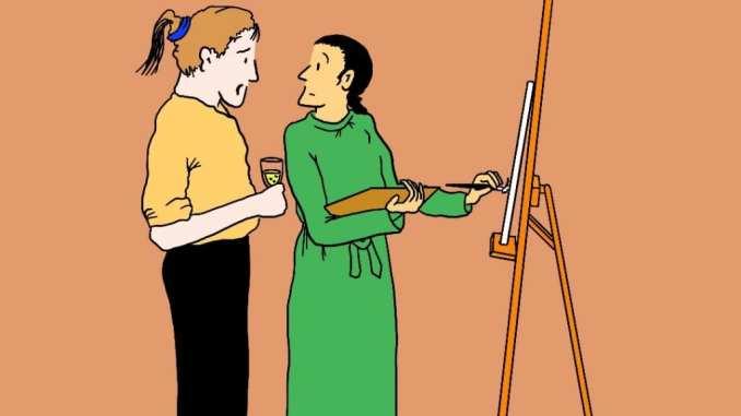 Artist Website: Satirical Saturday Cartoon on Art by Alex Brenchley 2019