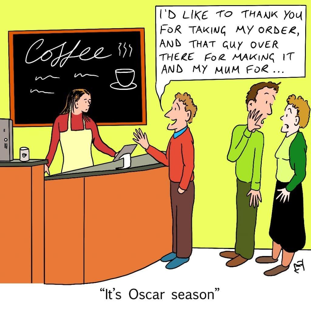 Thanks: Satirical Saturday Cartoon on Art by Alex Brenchley 2019