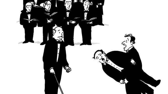 Tenor Satirical Saturday Cartoon on Art by Alex Brenchley 2019