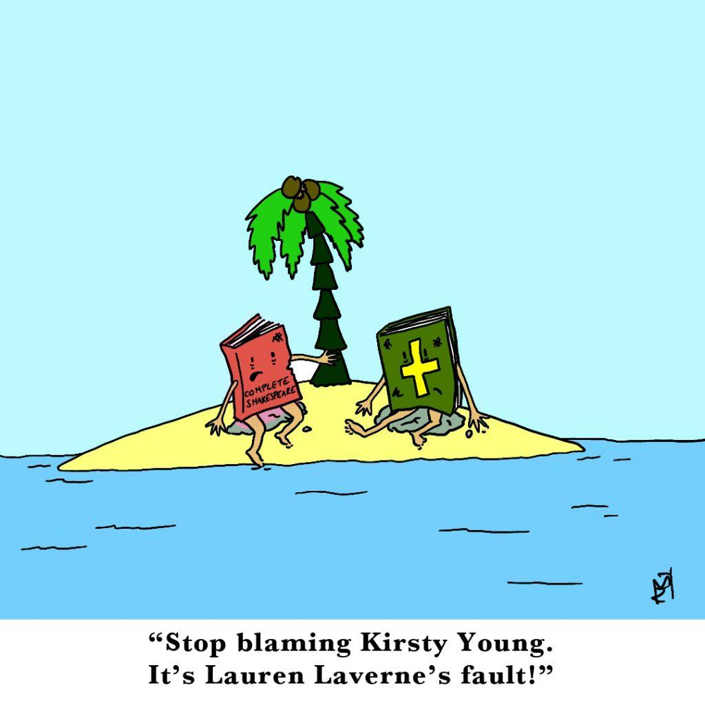 Desert Island Discs Satirical Saturday Cartoon on Art by Alex Brenchley 2019