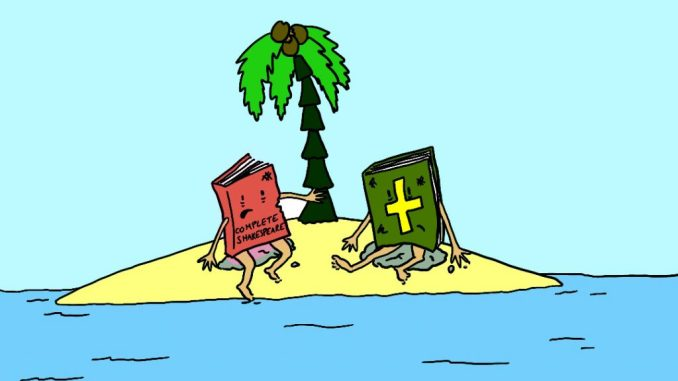 Desert Island Discs Satirical Saturday Cartoon on Art by Alex Brenchley 2019