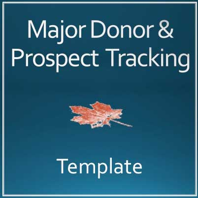 major gift donor and prospect tracking template training resources