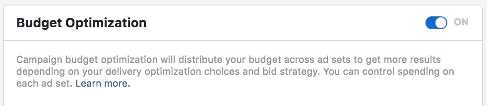 Facebook Campaign-level budget optimization