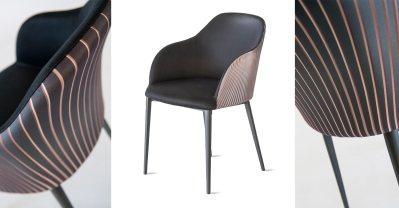 Modern Italian Design dining chair by Riflessi-Sofia