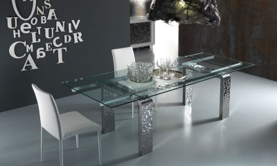 Luxury and Modern crystal dining table MITO by Riflessi
