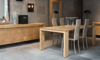 Modern extendable dining table ATLANTE by Riflessi