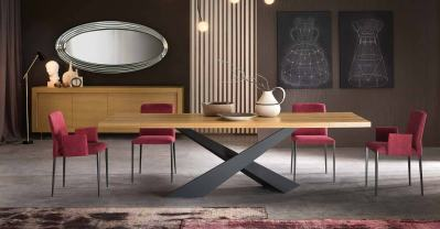 Custom dining table LIVING - Modern Italian dining table by Riflessi